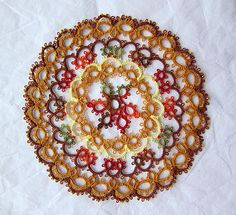 Tatted Doily (can't get over the beautiful color combo on this one)
