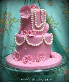 Tea party vintage cake