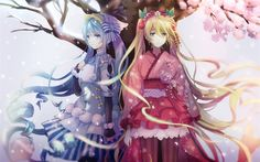vocaloid, akiyoshi, hatsune miku, Spring, cherry blossom