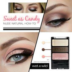 ตาสวยฉ่ำน่ามอบมงมากค่ะ กับอายแชโดว์โทนชมพู-น้ำตาล โทนสีคลาสสิกที่สาวๆ ทุกคนต้องมีนะคะ  Wet n Wild Color Icon Eyeshadow Trio #381 Sweet  As Candy