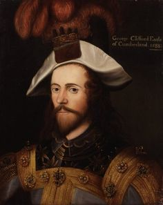 Sir George Clifford, Earl of Cumberland, KG August 1558 – 30 October was an English peer, as well as a naval commander and courtier in the court of Queen Elizabeth Wikipedia Tudor History, British History, Isabel I, Spanish War, Tudor Era, Tudor Style, Courtier, Mary Queen Of Scots, Armada