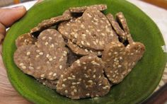 Multi-Grain Crackers With Sesame Seeds, Chives And Chili Flakes Recipe