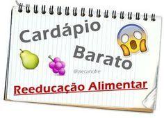 Ale Canofre: Cardápio Barato para Reeducação Alimentar