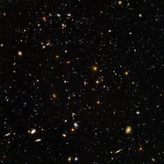 In this taken by the Hubble telescope, there are thousands and thousands of galaxies, each containing millions of stars, each with their own planets.