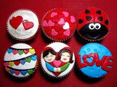 Resultado de imagen para cupcakes  dias del amor y la amistad 2014