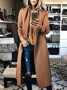 SPECIFICATIONS: Product Name Fashion Solid Color Lapel Woollen Outerwear Brand Cojolly Color Khaki SKU WINS2F90E638373D Gender Women Style Elegant/Sexy/Fashion Type Tops Occasion Party/Vacation/Daily Life Material Polyester fiber Sleeve Long Sleeve Product No. WYX1020 Decoration Plain