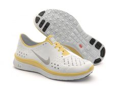 Cheap 2013 Nike Free Run 5.0 Olympic White Yellow Women Clearance Outlet