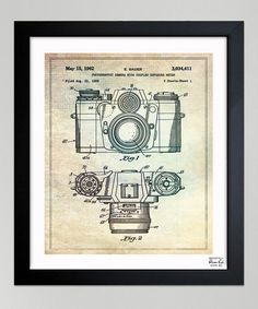 Take a look at this 'Sauer Camera, 1962' Framed Art Print by Oliver Gal on #zulily today! - This would be a cool print for my office wall.
