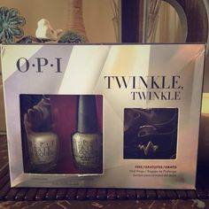 OPI Twinkle Twinkle Nail Collection OPI Twinkle Twinkle Nail Polish collection includes Funny Bunny and Comet Closer. Also includes free set of Gold Midi Rings. Perfect gift for Easter OPI Makeup