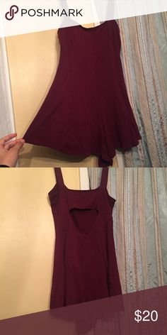 💝 Burgundy romper 💝 🎀Super cute romper 🙀Look through my closet to pair with this item& bundle to save!💕🙀 ❣️Make An Offer!❣️ Forever 21 Pants Jumpsuits & Rompers