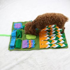 IFOYO Dog Feeding Mat Dog Snuffle Mat Small Dog Training Pad Pet Nose Work Blanket Non Slip Pet Activity Mat for Foraging Skill Stress Release S Green *** Check out the image by visiting the link. (This is an affiliate link) Dog Enrichment, Diy Dog Toys, Pet Toys, Dog Smells, Interactive Dog Toys, Dog Training Pads, Felt Dogs, Cat Feeding, Pet Mat