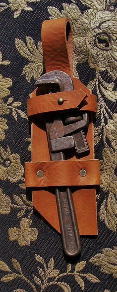 STEPH NEEDS THIS. AUGHH. (Need it to go on sale. lol.) Steampunk Leather Trimo No. 8 Wrench by JoannaCorrinCoutures, $44.50