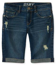 Kids' Destroyed Dark Wash Denim Bermuda Shorts - PS From Aéropostale®