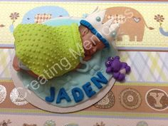 The King Baby - Edible Cake Topper for BABY SHOWER, First Birthday, any Special Celebration Redy for your home made Cake