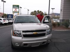 Jamal's new 2013 CHEVROLET TAHOE! Congratulations and best wishes from Findlay Acura and ZAC BARNES. http://findlayacura.com