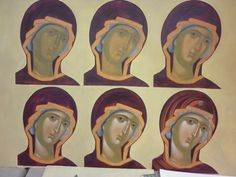 Painting Process, Painting Lessons, Painting Techniques, Byzantine Icons, Byzantine Art, Religious Icons, Religious Art, Writing Icon, Christian Paintings