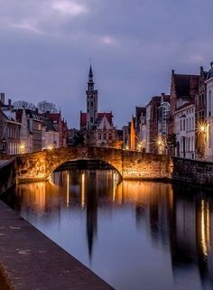 blue hour.. Bruges, Belgium   by View iris-click The Places Youll Go, Places To See, Places To Travel, Travel Around The World, Around The Worlds, Travel Pictures, Travel Photography, Portrait Photography, Wedding Photography