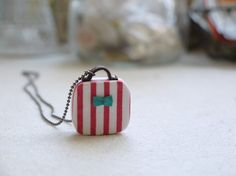 Little Suitcase Necklace. Evangelione, Etsy.
