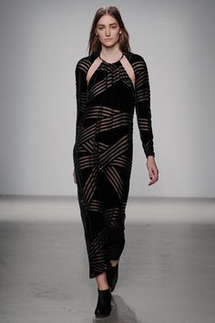 Quiet cutouts with velvet and sheer peeks at Damir Doma.  Damir Doma Fall 2014 Ready-to-Wear Collection Slideshow on Style.com