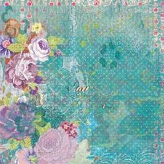 K and Company Jubilee Bright Flowers 12 x 12 Flat Paper