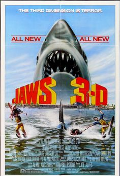 Jaws: 3-D movie poster