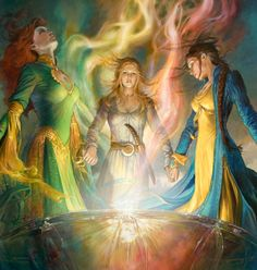 Elayne, Aviendha and my favorite--Nynaeve from The Path of Daggers by Robert Jordan