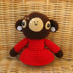 Little Amigurumi Monkey by anapaulaoli on Etsy, $25.00