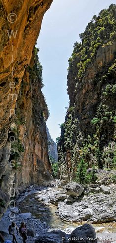 The Samariá Gorge, #Crete is 16km long & the longest in #Greece More: http://en.wikipedia.org/wiki/Samari%C3%A1_Gorge