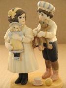 Jan Hagara Billy and Brenna Porcelain Children Figurine