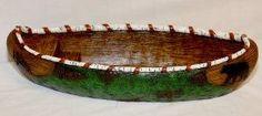 Bear Print Canoe Sculpture