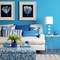 Blue inspirations for the home.