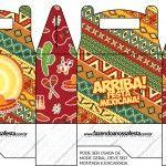 Caixa para Lembrancinha Festa Mexicana