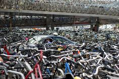 100000 Bikes at Amsterdam Central Station