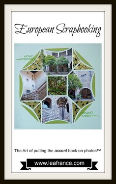 European Scrapbooking created by Aleth, using Stained Glass Lea France Stencil. If you never heard about European Scrapbooking, click here www.leafrance.com/ to find out why so many users fell in love with our reusable stencils. #europeanscrapbooking