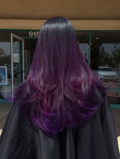 Blown Away Hair Lounge - San Dimas, CA, United States. Purple balayage ombré by Allysha.