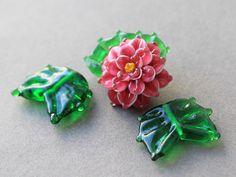 Handmade Lampwork Beads  Set of 3 Glass by JewelryBeadsByKatie