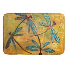 Dragonfly Haze Bath Mat - bathroom idea ideas home & living diy cyo bath