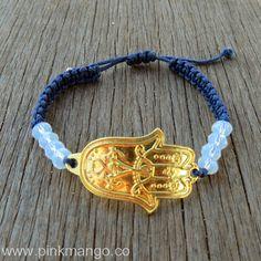 Hamsa Navy Bracelet