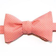 Nœud papillon Mini pois rose moyen  Medium pink with pin dots bow tie