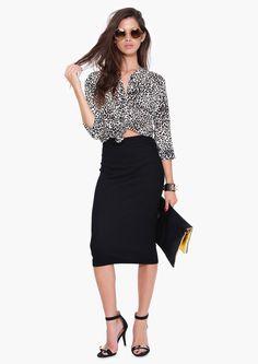 Monna Midi Sweater Skirt in Black | Necessary Clothing