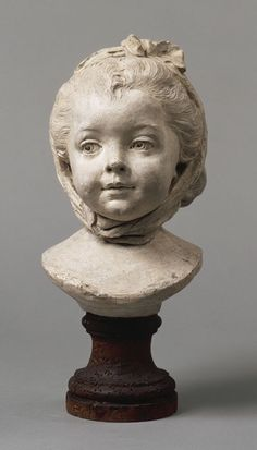 Young girl with fichu, 1769 by Jean-Baptiste Lemoyne (Louvre)
