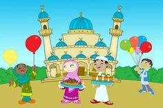 Eid Coloring Page For Kids
