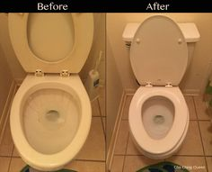 How to Remove Hard Water Toilet Bowl Stains Easily and Quickly - DIY Bathroom Cleaning Deep Cleaning Tips, House Cleaning Tips, Spring Cleaning, Cleaning Hacks, Cleaning Products, Diy Hacks, All You Need Is, That Way, Toilet Bowl Stains