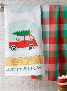 Let it snow tea towels Set of 2 | Danica | Decorative Kitchen Linens Online | Simons