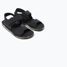Image 7 of FASHION SANDALS WITH HOOK AND LOOP STRAPS from Zara