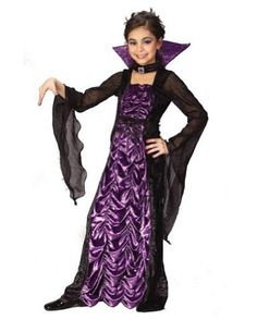 countess of darkness vampire child costume medium child clothes size 8 10