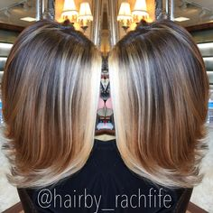 Bright blonde face framing balayage highlights. hair by Rachel Fife @ SF Salon