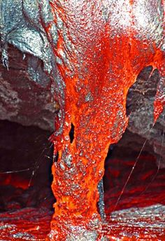 lava flows from Kilauea Volcano