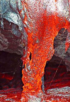 lava flows from Kilauea Volcano