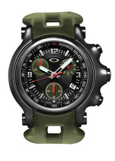 Oakley 10TH MOUNTAIN DIVISION HOLESHOT® (Stealth Black/Black Dial/Military Olive Rubber Strap)
